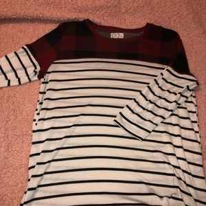maurices 3/4 sleeve 24/7 top